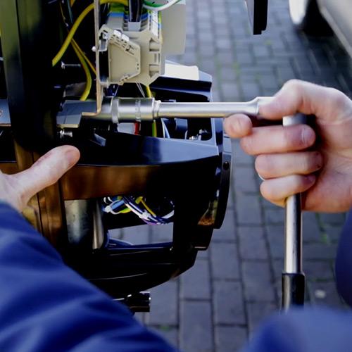instalación punto de recarga elétrica